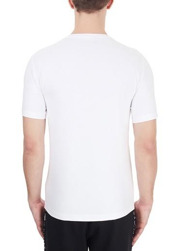 EA7 Emporio Armani  Baskılı Bisiklet Yaka Pamuklu T Shirt Erkek T Shırt 6Hpt31 Pj3Nz 1100 Beyaz